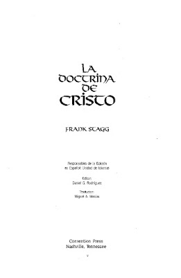 Frank Stagg-La Doctrina De Cristo-