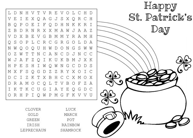 Happy St Patricks Day puzzle for kids