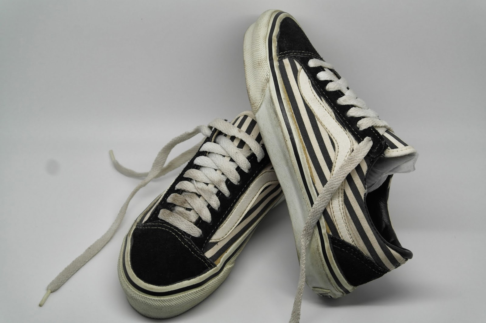 9598f7ae4bb8c4 vintage KIDS VANS style  36 stripe print OLD SKOOL 80s MADE IN USA original  children US2.5 striped stripes