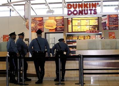 Fat Cop Eating Donuts Traffic Club