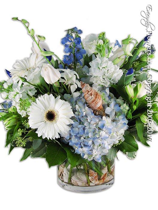Ocean Garden Blue Bigger by Everyday Flowers