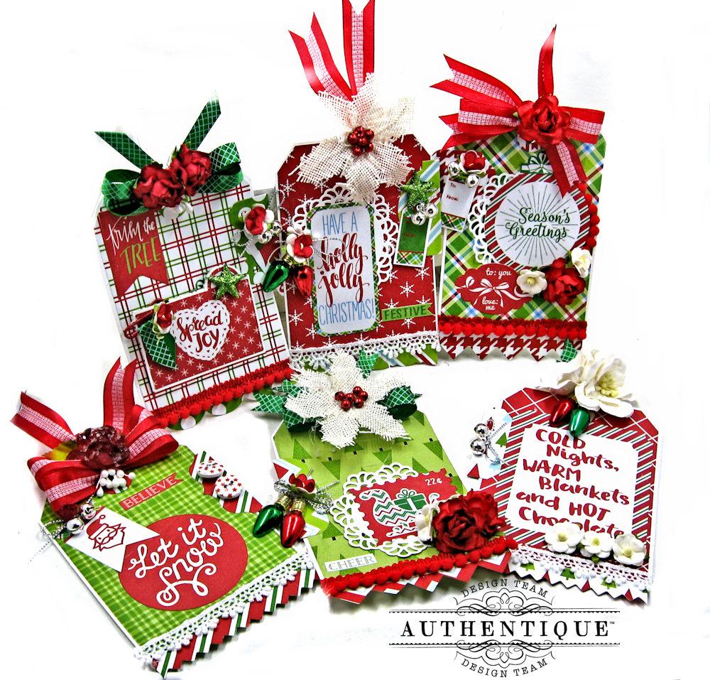 Jolly Christmas Window Shaker Card Folio and Christmas Gift Tags