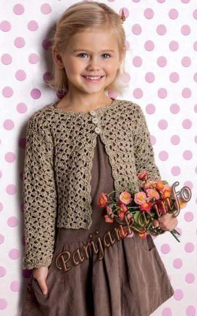 Chaleco crochet fácil niña