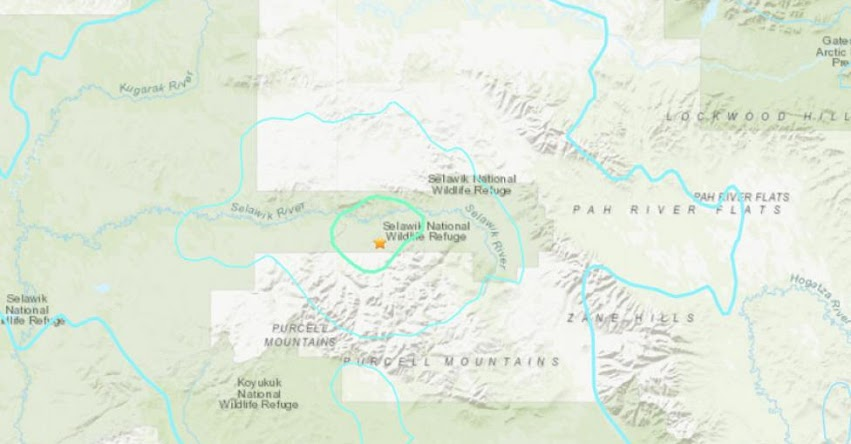 Terremoto en Alaska de Magnitud 6.0 y Alerta de Tsunami (Hoy Martes 26 Marzo 2019) Sismo - Temblor - EPICENTRO - Kobuk - Estados Unidos - EE.UU. - USGS
