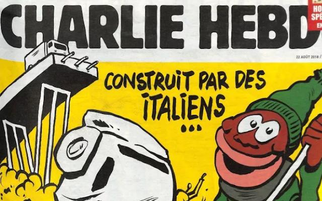Ponte Morandi, la copertina di Charlie Hebdo che fa arrabbiare il web