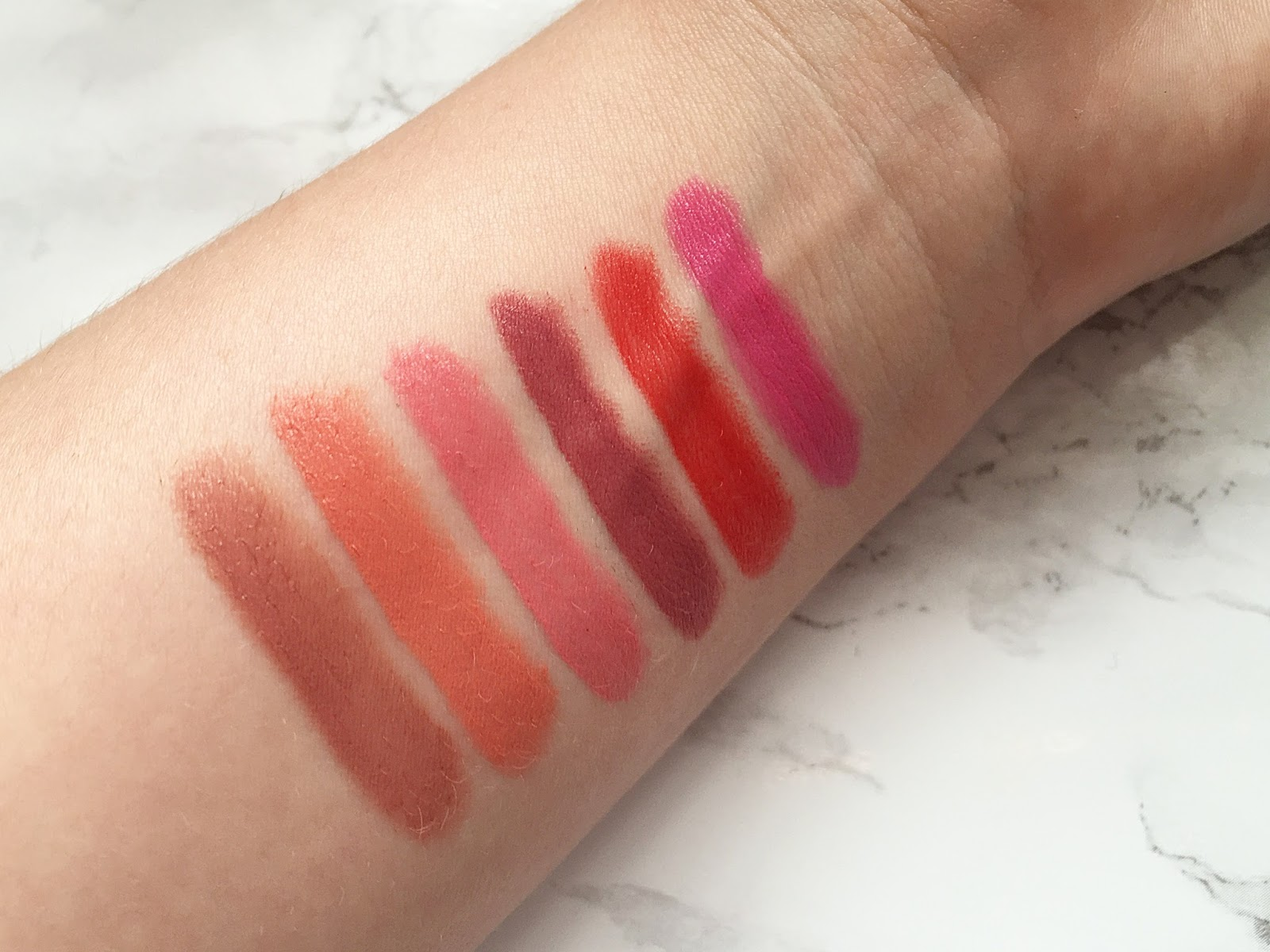 Sleek Power Plump Lip Crayons Swatched