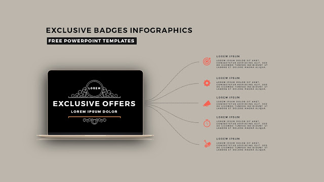 Infographic Badges Free PowerPoint Template for Special Offers Slide 13