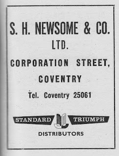 S.H.Newsome & Co Ltd, Coventry advert in Autocar 21 October 1960