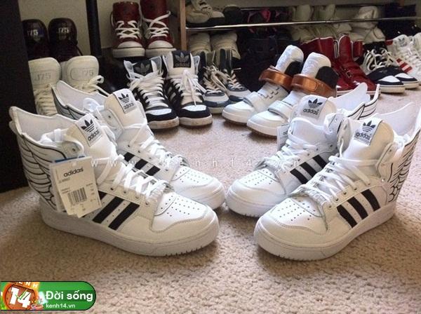 Bộ sưu tập giày sneaker tột đỉnh của anh chàng việt tại mỹ bạn nữ nào cũng m9ê