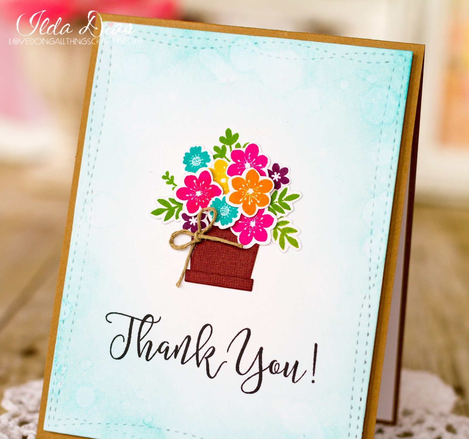 I Love Doing All Things Crafty Spring Thank You Card