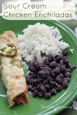 Sour Cream Chicken Enchiladas | SneakySpoons