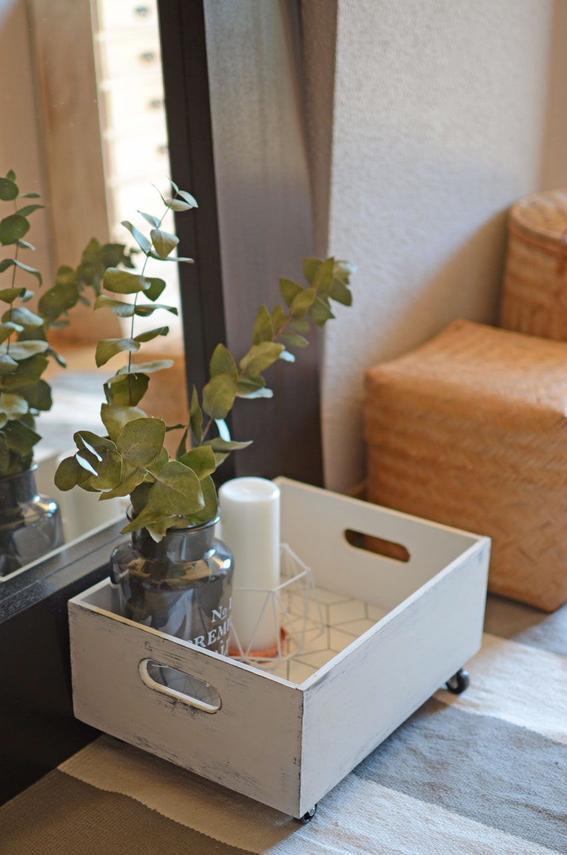 Diy caja madera decorada con papel pintado blog de - Decorar cajas de madera con papel ...