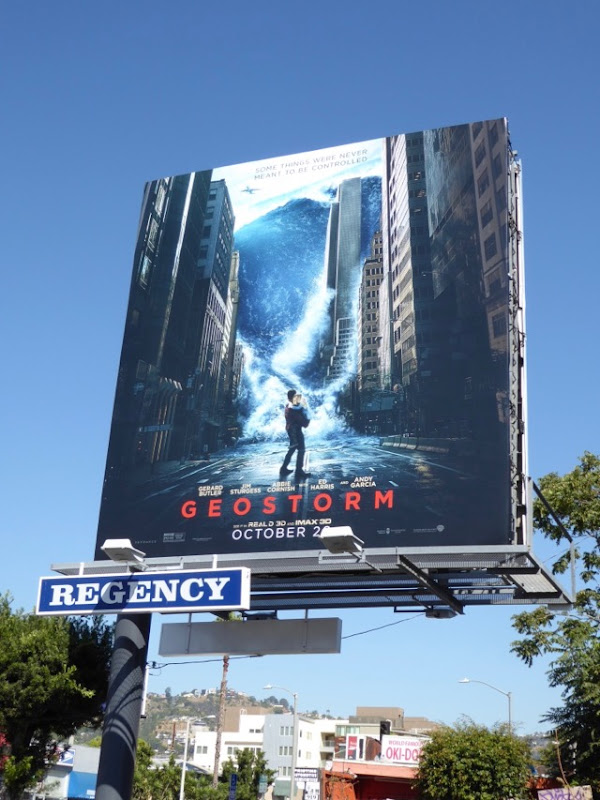 Geostorm film billboard