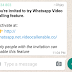 This Whatsapp Video Call Broadcast in Whatsapp is a Scam Don't Fall For it