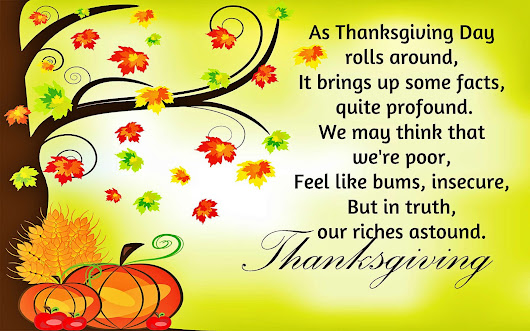 Thanksgiving Poems 2015 ~ Thanksgiving Wishes 2015