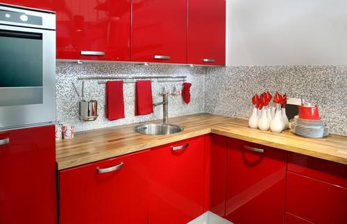 Hogares Frescos Dise Os De Cocinas Rojas