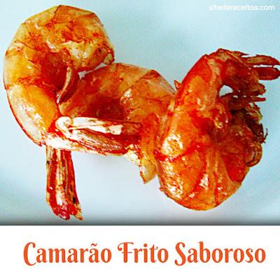 Camarão frito saboroso
