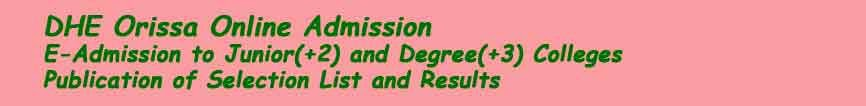 Dhe Odisha +2 First Selection Merit List 2019