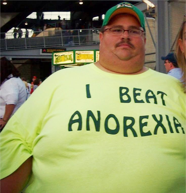 Funny Beat Anorexia Fat Man Joke Picture