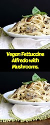 Vegan Fettuccine Alfredo with Mushrooms