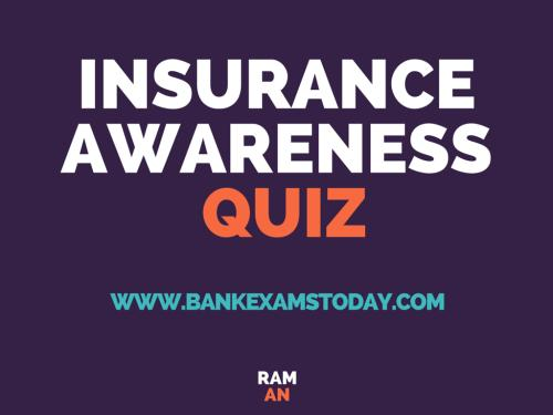 Insurance Awareness Quiz With Answers Bankexamstoday