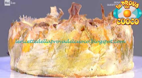 Prova del cuoco - Ingredienti e procedimento della ricetta Tortino di fiori di zucca ripieni di Andrea Mainardi