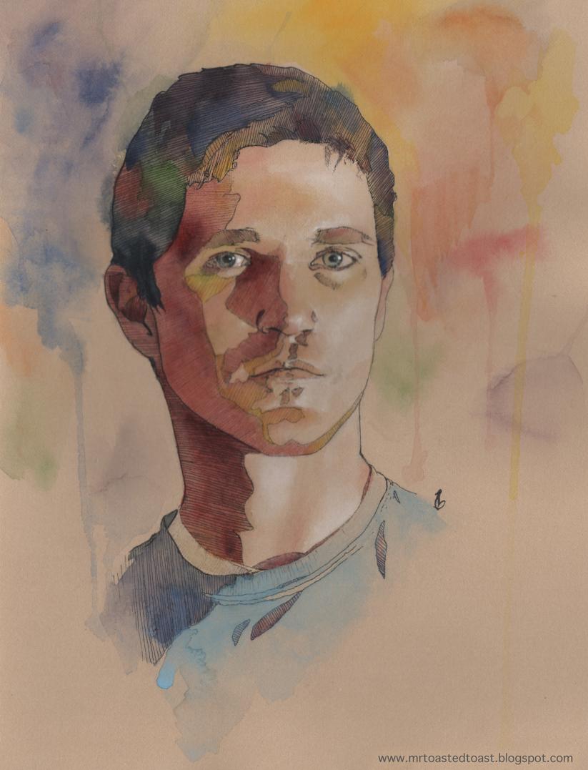 Toast: Watercolor Self Portrait