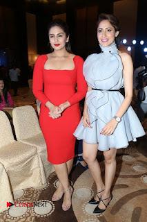 Pragya Jaiswal Pictures in Short Dress at Siima 2016 Press Meet