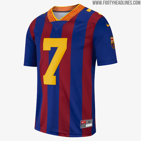 d49b7ac0b Limited-Edition Nike FC Barcelona American Football Jersey Released ...