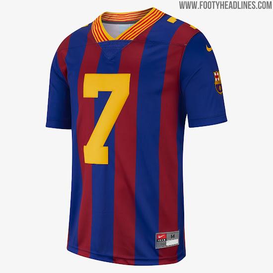buy popular 3cddf e5075 Limited-Edition Nike FC Barcelona American Football Jersey ...