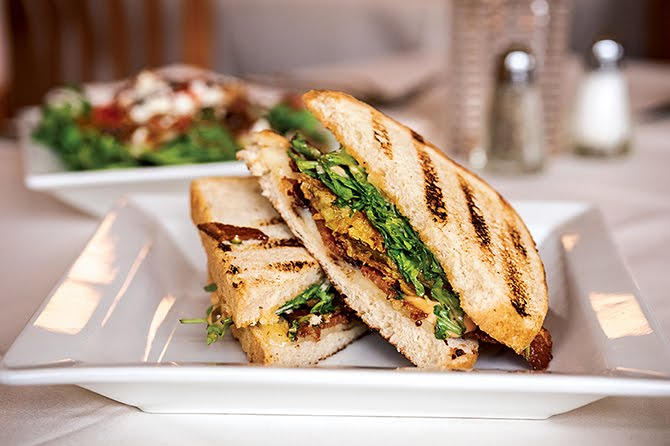 The fried green tomato BLT at Serafini in Frankfurt Kentucky is a great option for lunch.