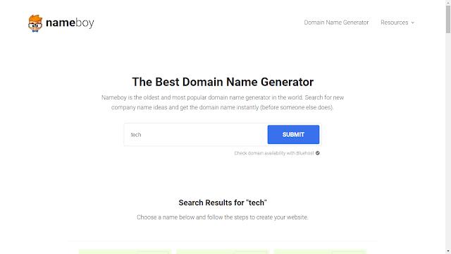 Domain Name Generators, Best Domain Name Generators, free domain name generators, Catchy Names For Websites,  Domain name generator, Random domain name generator