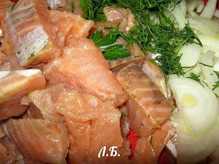 готовим начинку для рыбного пирога