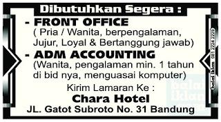 Lowongan Kerja Chara Hotel