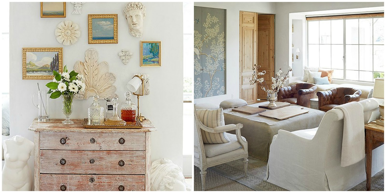 Swedish antiques in modern farmhouse interiors of Patina Farm