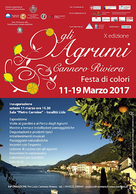 Gli agrumi a Cannero Riviera: Festa di colori dall'11 al 19 marzo Cannero Riviera (VB)