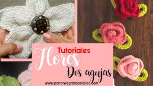 Cómo tejer flores con dos agujas / 3 tutoriales
