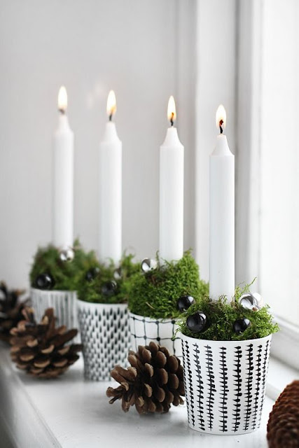 Simple candles for Christmas