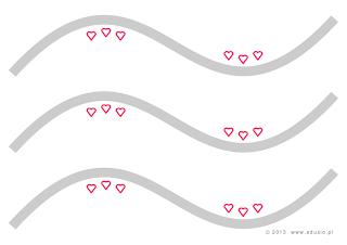 szlaczki dla dzieci do wydrukowania-linie faliste