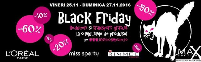 Black Friday la 1001cosmetice