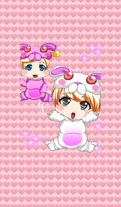 New Year cute rabbit baby