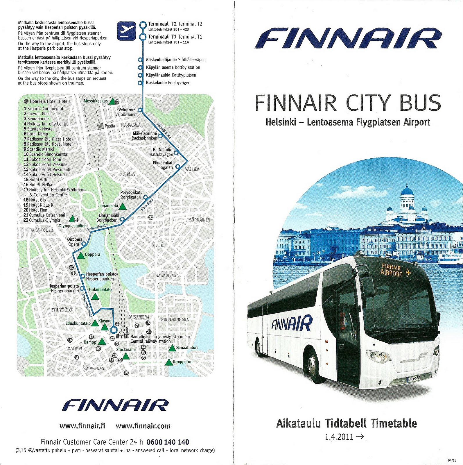 Finnair Bus Timetable