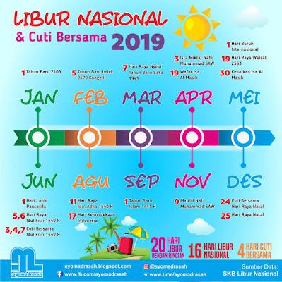 Hari Libur Nasional dan Cuti Bersama 2019