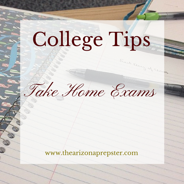College Tips: Take Home Exams
