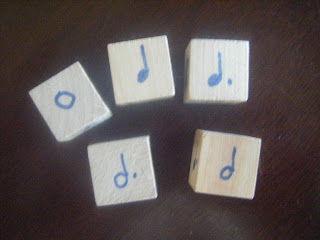 Minute to Win It Music Game A Bit Dicey using wooden rhythm blocks