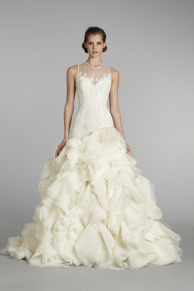 Lazaro bridal fall 2012 my dress of the week belle the for T back wedding dress
