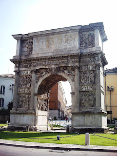 The magnificent Arch of Trajan is one of several Roman relics in Benevento