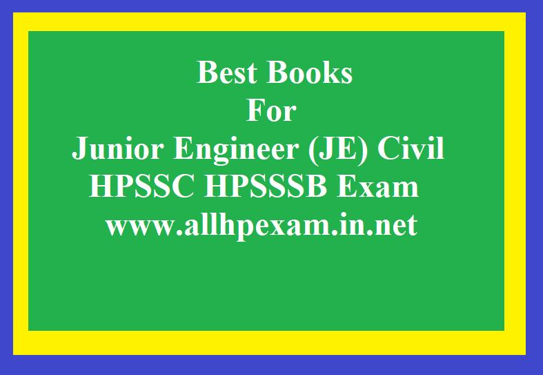 Best Books For Junior Engineer (JE) Civil For HPSSC HPSSSB