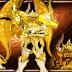 Cloth Myth EX de Aldebaran de Touro trajando sua Armadura Divina nas páginas da Figure Oh e Hobby Japan