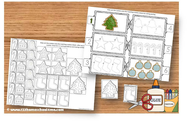 Christmas Math for toddler, preschool and kindergarten